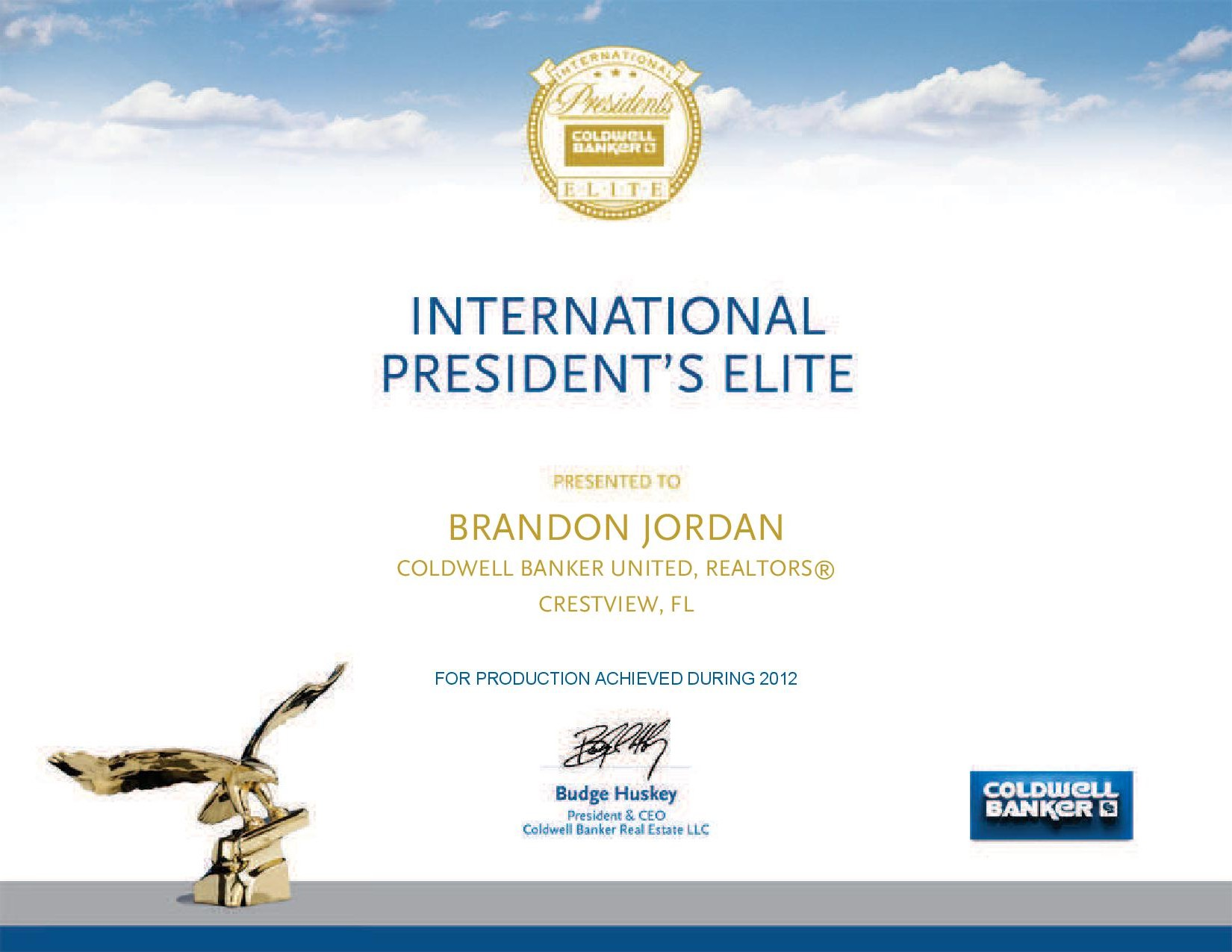 I am now a 50/50 member with Coldwell Banker and have won the President Elite award for 2014