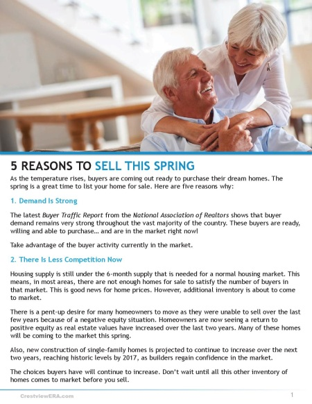 5 reasons to sell