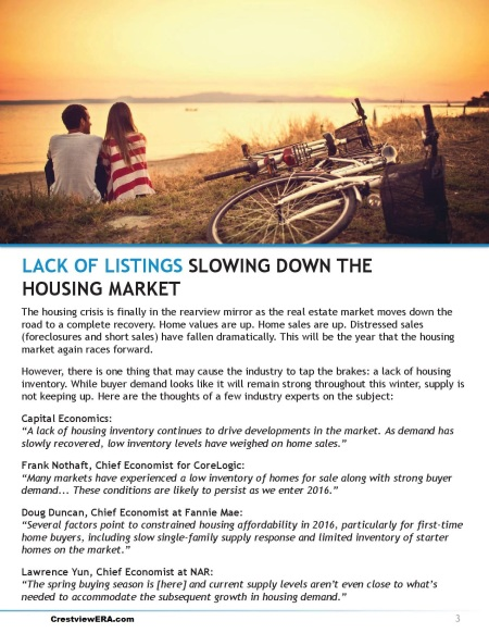 Lack of Listings Page
